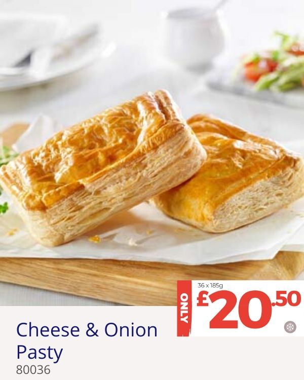 April deal - Cheese and Onion Pasty